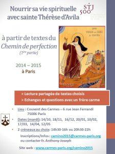 Groupe de lecture Chemin 2015