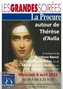 Affiche GS Thérèse d'Avila 8 avril 2015