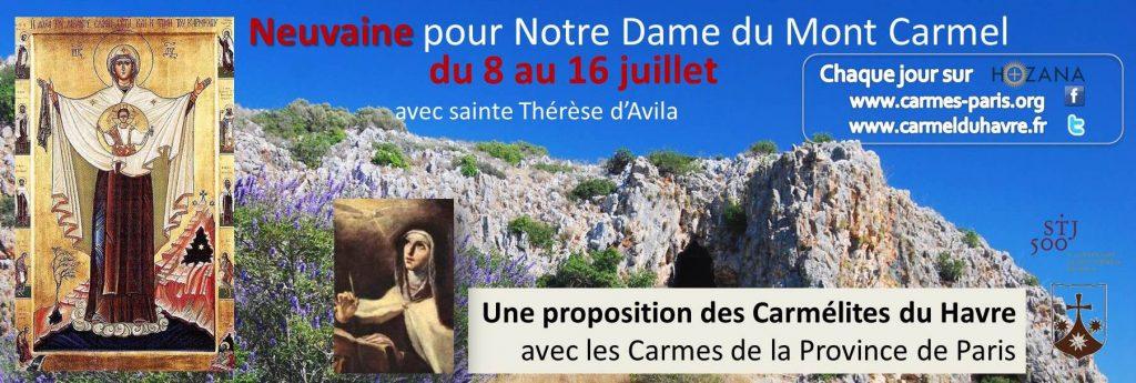 Bannière neuvaine Notre Dame du Mont Carmel 2015