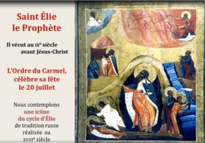 prier avec une icone prophete Elie