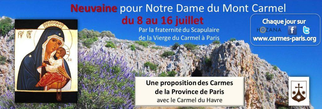 Neuvaine Notre Dame du Mont Carmel 2016